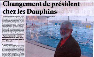 Revue de presse du 03 mars 2016 - L'Indépendant du Pas-De-Calais - Changement de Président chez les Dauphins
