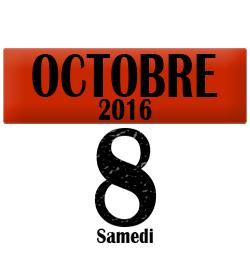 8 octobre 2016, Pas de cours le samedi 8 octobre 2016