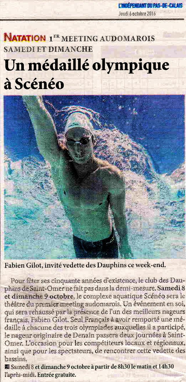 Un médaillé olympique à Scénéo, Les Dauphins Audomarois, Longuenesse (62219)
