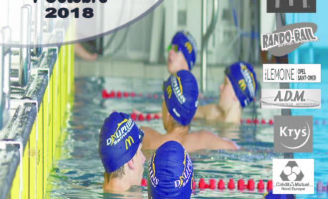3ème meeting de l'Audomarois, Club de natation des Dauphins Audomarois, Saint Omer, dimanche 7 octobre 2018